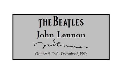 Usado, John Lennon Signed Signature Custom Laser Engraved 2 x 4 inch Plaque FREE SHIP segunda mano  Embacar hacia Argentina