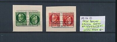LL96802 Germany 1916 Bayern inverted pair etappen area fine lot used