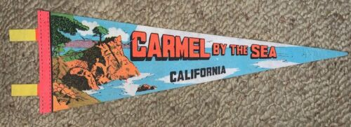 VINTAGE CARMEL BY THE SEA, CALIFORNIA FELT FLAG BANNER, PENNANT