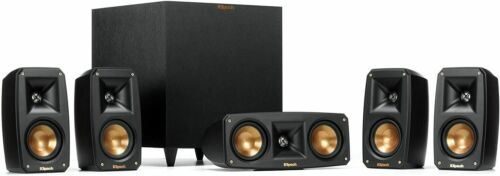 New Klipsch Reference Theater Pack 5.1 Channel Surround Sound System BLACK