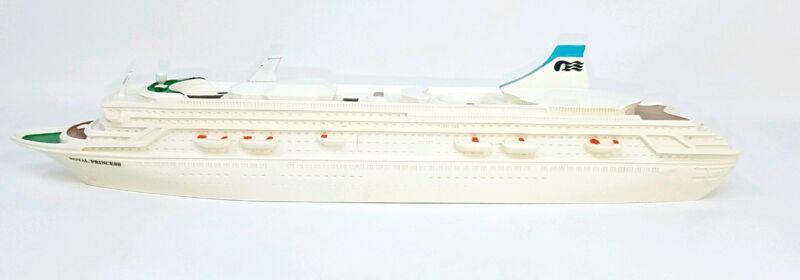 "VTG 1984 ROYAL PRINCESS MONTEGO PRODUCTS RESIN MODEL REPLICA CRUISE SHIP 12.75"""