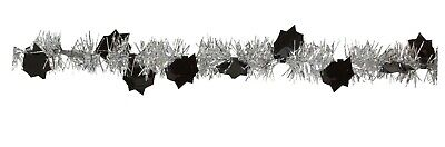 Black And Silver Party Supplies (Graduation Garland Silver and Black 9ft Decoration Favor Party)