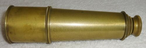 """Antique Brass Folding Nautical Telescope Expands from 7"""" to 16.25"""""""