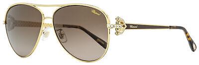 Chopard Aviator Sunglasses SCHC17S 316P Gold/Brown/Havana Polarized 59mm (Chopard Sunglasses For Women)