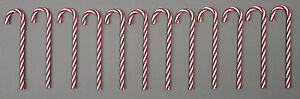 12-X-RED-AND-WHITE-CANDY-CANES-STRIPY-FESTIVE-SWEETS-CHRISTMAS-TREE-DECORATIONS