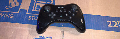 Geniune/Authentic/Official Nintendo Wii U Black Wireless Pro Controller NO CABLE