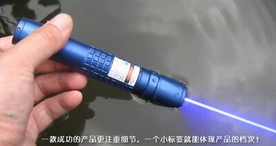 Waterproof Focusable 447nm 450nm Handheld Laser Pointer Led Torch Flashlight