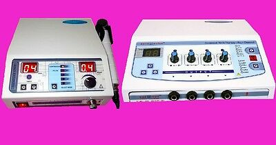 New Electrical Stimulator Combo Portable Ultrasound Machine  Electrotherapy JW75