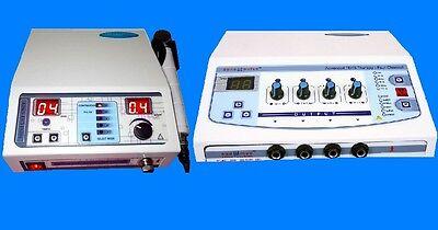 Combo Portable  Electrical Stimulator Ultrasound Machine Electrotherapy unit jkg