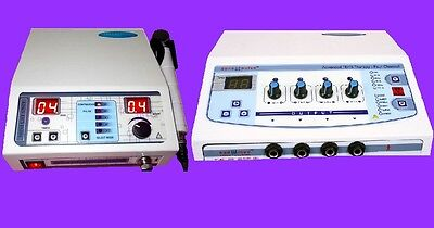 Combo Ultrasound Therapy Electrotherapy Ultrasound Unit Treatment Pain Relief Jh