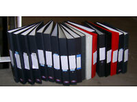 Over 20 Nearly New A4 Ring Folders + Lever Arch Folders