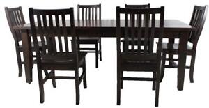 Amish Mennonite Handcrafted Solid Wood Dining Table Set Kit  - FREE SHIPPING