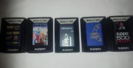 5 x Zippo lighters
