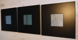 3 Mirror Frames Ikea Malma Black Wooden Frames Stylish Modern Contemporary Excellent Condition