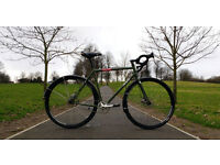 Genesis Day One Disc - 56 Medium - Adventure Single Speed Commuter CX Road Bike Reynolds Steel Frame