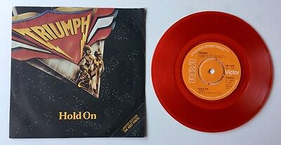 """Triumph 1979 Limited Edition Red Vinyl 7"""". Hold On. for sale  Shipping to South Africa"""