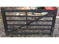 Black wooden 5 bar gate 204cm x 120