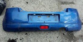 GENUINE SUZUKI SWIFT GL 3 DOOR HATCHBACK 2005-2010 REAR BUMPER IN BLUE