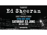 Ed sheeran tickets 23rd june cardiff principality pitch standing x4