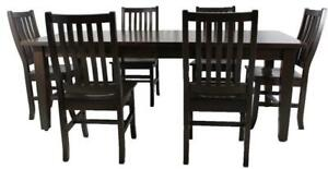 Mennonites Handcrafted Local Solid Maple Wood Dining Table Set - Ship Across Canada