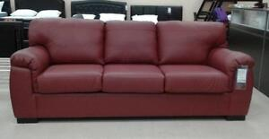 MARKHAM CANADIAN MADE GENUINE LEATHER SOFA / LOVESEAT / CHAIR  SALE (AD 264)
