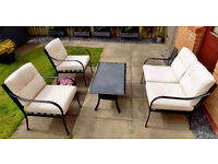 Garden Furniture Set £100 (2 seater/2 chairs & Glass Top Table)