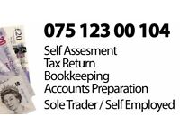 Self Assessment, Tax Return, Bookkeeping, Self employed, Personal Tax, Annual Return