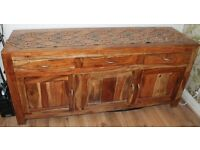 Solid Wood Cube Sideboard in good condition