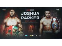 2 x ANTHONY JOSHUA VS JOSEPH PARKER TICKETS 31ST MARCH 2018