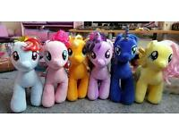 6 My Little Pony's Soft Teddies
