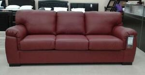 MISSISSAUGA CANADIAN MADE GENUINE LEATHER SOFA / LOVESEAT / CHAIR ON SALE (AD 262)