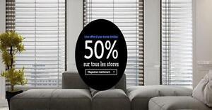 Store sur mesure vendu en ligne 50% RABAIS