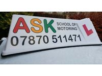 DRIVING LESSONS. BASED EAST EDINBURGH. PROFESSIONAL LESSONS WITH GRADE A INSTRUCTORS.