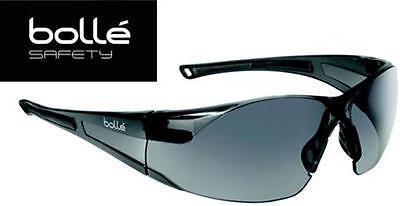 Bolle Rush 40071 Safety Glasses Smoke Gray Lens Black Frame Anti-fog Lens