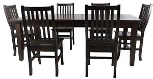 Amish Mennonite Handcrafted Solid Wood Dining Table Sets  - FREE SHIPPING