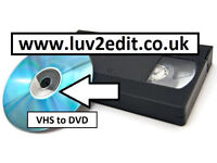 VHS to DVD or Computer file - Save your home movies before it's too late - Wedding Videos Memories