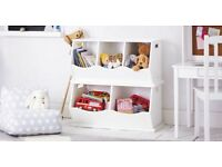 GLTC Double Triple Stacking Storage White Children's Bookcase Shelving RRP £120 Box