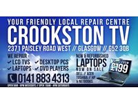 laptop repair tv lcd and plasma repair **0141 883 4313** fully insured shop