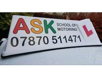 Driving Lessons with ASK School of Motoring.