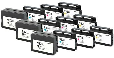 12 PACK For HP 932XL 933XL Ink Cartridges For Officejet 6100 6600 Printer Series ()