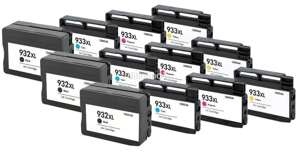 10PK 932 933 XL CN057 CN054 CN055 CN056 Ink for HP OfficeJet 6100 6600 6700 7610