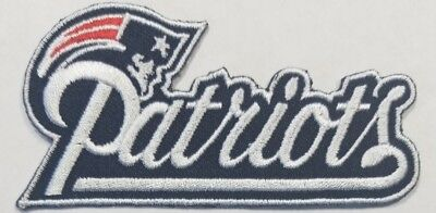 New England Patriots~Iron On NFL Logo~ Embroidered Patch~Free Shipping From USA~