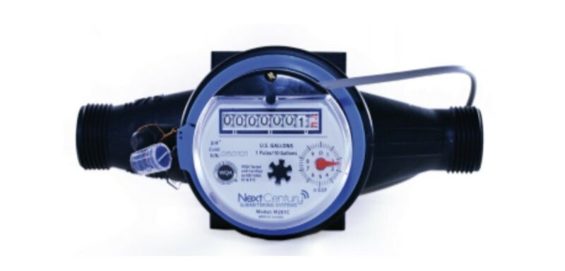 """New 3/4"""" NPT Cold Water Meter - Pulse Output Next Century M201C Free Shipping"""
