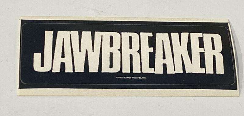 "JAWBREAKER STICKER (Original 1995) 4 1/2"" x 2""  Black & White"