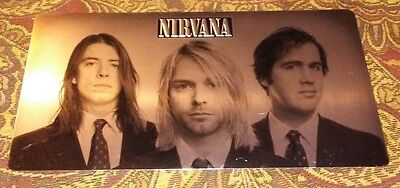 Nirvana With the Lights Out UNUSED BOX SET METAL COVER PHOTO w Peel & Stick Back