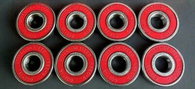 8-Pack Abec-9 Skateboard Skate Bearings, longboard scooter inline roller 8mm-608
