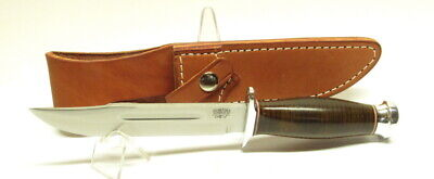 """Bark River Knives Boone II, CPM-3V, Aged Stacked Leather, 6"""" Blade, Hike, Camp"""