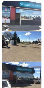 2 room office space  with showroom and fenced lot for rent !