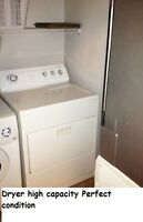Dryer high capacitY GOOD condition, All the other appliances too