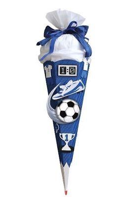 ROTH SchultütenBastelset Soccer blau weiß 6eckig 68c Fußball Einschulung Basteln
